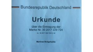 Jetzt amtlich - Brotgefuehl und Martinas Brotgefuehle eingetragene Marken